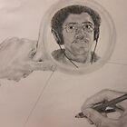 Self portrait in Mirror by Kyle Schwab