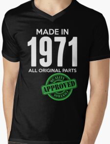 Made In 1971 All Original Parts - Quality Control Approved Mens V-Neck T-Shirt