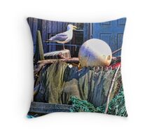 Seagull Habitat Throw Pillow