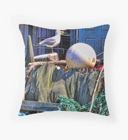Seagull Habitat Throw Pillow
