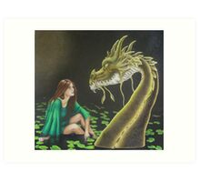 Water Dragon - Black Book of Arda Art Print