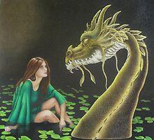 Water Dragon - Black Book of Arda by lanadi