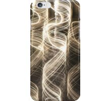 coiled light trails iPhone Case/Skin