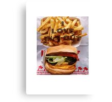 I Love In-n-out Canvas Print