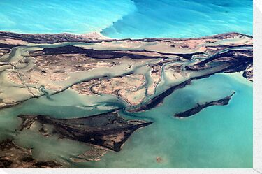 Aerial View of Turks and Caicos Islands and Atlantic Ocean by Haydee  Yordan