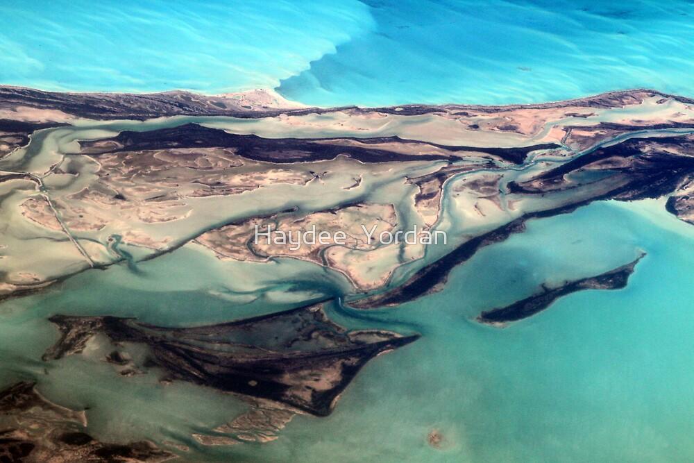Aerial View of Turks and Caicos Islands and Atlantic Ocean by Haydee  Yordan