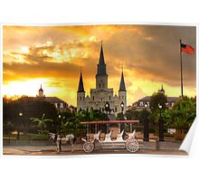 Jackson Square at Dusk  Poster