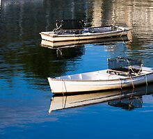Lobster Dinghies - Perkins Cove - maine by Steven Ralser