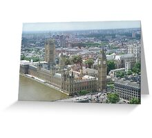 Palace of Westminster London Eye view Greeting Card