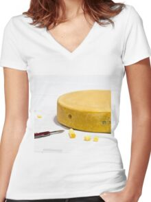World cheese championships Women's Fitted V-Neck T-Shirt