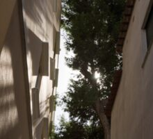Capri - the Mediterranean Sun Painting Playful Shadows on Facades Sticker