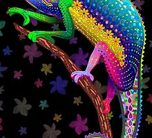 Chameleon Fantasy Rainbow Colors by BluedarkArt
