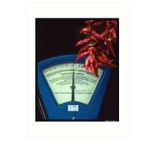 Scale and Hot Pepper in a Grocery Shop Art Print
