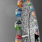 Coloured Ferris Wheel by rachomini