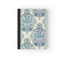 Not Even a Sparrow - hand drawn vintage bird illustration pattern Hardcover Journal