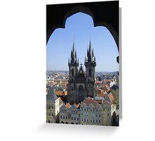 Tyn Church, Prague Greeting Card