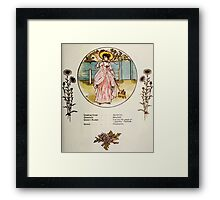 Language of Flowers Kate Greenaway 1884 0039 Descriptions of Specific Flower Significations Framed Print