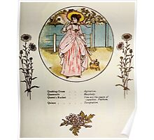 Language of Flowers Kate Greenaway 1884 0039 Descriptions of Specific Flower Significations Poster