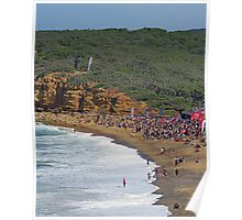 Beach crowd at Rip Curl Pro 2010 Poster