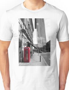 Red Telephone Box and Beetham Tower Unisex T-Shirt