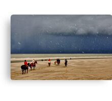 Easter on the North Sea Beach....... Canvas Print