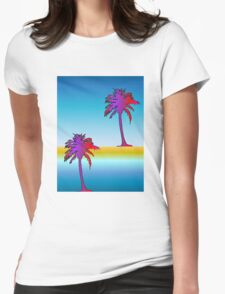 Miami Reflection Womens Fitted T-Shirt