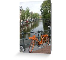Amsterdam Bicycles and Canals Greeting Card