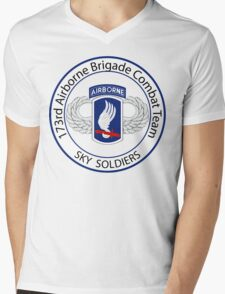 173rd Airborne Sky Soldiers Mens V-Neck T-Shirt