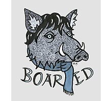 """Boared"" - Sherlock as bored boar Photographic Print"
