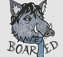 """Boared"" - Sherlock as bored boar by Madelei"
