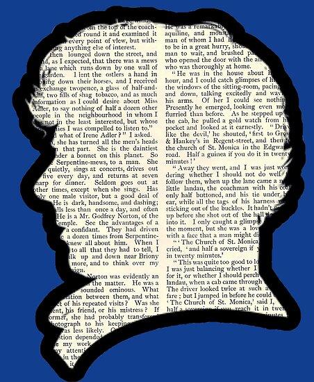 Sherlock Holmes - Benedict Cumberbatch silhouette by BagChemistry