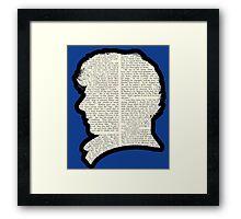 Sherlock Holmes - Benedict Cumberbatch silhouette Framed Print