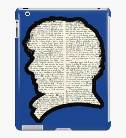 Sherlock Holmes - Benedict Cumberbatch silhouette iPad Case/Skin