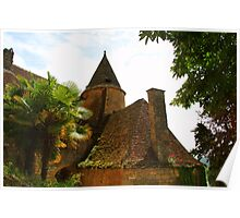 A little cottage on the road to Castelnaud (France) Poster