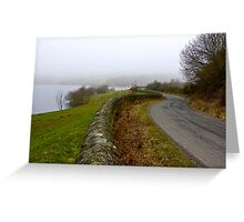 Mist around the Reservior Greeting Card