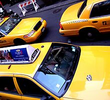 Yellow taxis everywhere by Emilie JJ