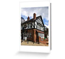 The Worlds End Pub - Knaresborough. Greeting Card