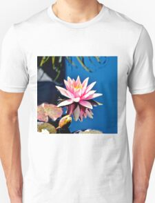 Pink Water Lily in Pool T-Shirt