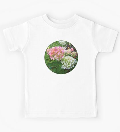Delicate Pink and White Hydrangea Kids Tee