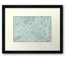 Minimal Maps - Cape Town S.A. Framed Print