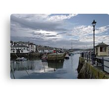 Evening at Custom House Quay, Falmouth Canvas Print