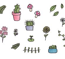 Plant Stickers by happysoul