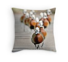 ..and with a 100m to go .... Throw Pillow