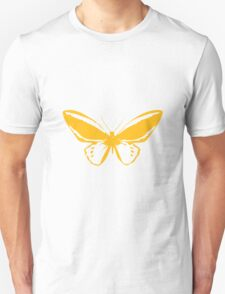 Yellow Butterfly - Vector Art T-Shirt