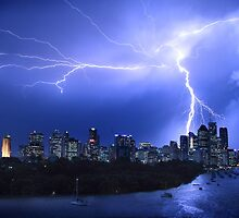 Brisbane City Lightning Strike by Troy Curry