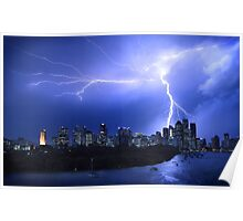 Brisbane City Lightning Strike Poster
