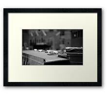 Canalside Bokeh Framed Print