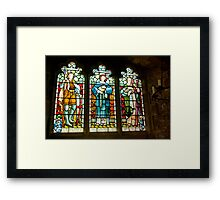 Hubberholme Church Window #2 Framed Print