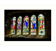 Hubberholme Church Window #3 Art Print