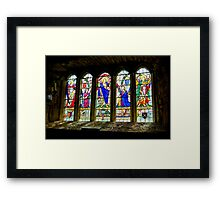 Hubberholme Church Window #3 Framed Print